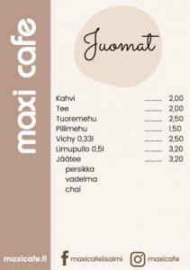 Referenssi graafinen suunnittelu Maxi Cafe