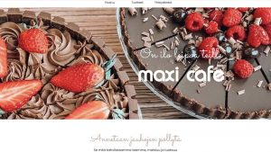 Referenssi kotisivu MaxiCafe